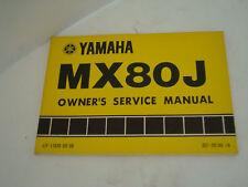 MX80J YAMAHA OWNERS MANUAL LIT-11626-03-09