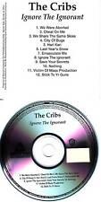 THE CRIBS Ignore the Ignorant ADVNCE TST PRESS PROMO CD
