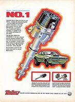 1971 Mallory Ignition Super Duty Double Life Distributor Hemi Cuda Print Ad.