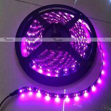 Waterproof Pink 5M 300 Leds 3528 SMD LED Flexible Strip Light 12V DC Black PCB