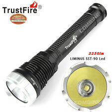 TrustFire 2250LM LUMINUS SST-90 LED Tactical Memory Flashlight 26650/25550 Torch