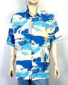 euc John Severson Collection by Kahala 100% Rayon Hawaiian Shirt Hula Girls XL