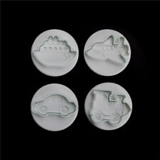 4x Plane,Ship,Train,Car Sample Cookie Cutter Mold Cake Decor DIY Fondant MoldM&C