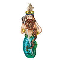 """Neptune"" (24140)X Old World Christmas Glass Ornament w/OWC Box"