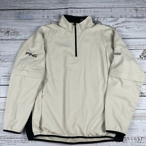 Mens PING COLLECTION PERFORMANCE 1/4 Zip Golf Pullover Vented Jacket Size L/XL