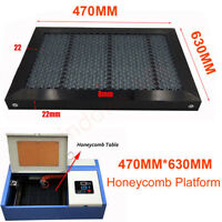 """12/""""x24/""""x .500/"""" Replacement Honeycomb Grid for Laser Engraver Table 3//8/"""" Cell"""
