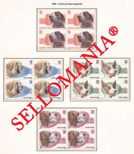 1983 PERROS DOGS PERDIGUERO MASTIN PODENCO PACHON ED 2711 / 14 ** MNH B4 TC21489