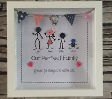 Personalised Stick Family Button Head Picture Frame Perfect Gift