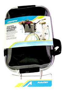 Huffy Designer Foldable Gray Basket with Mounting bracket