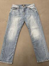 Lucky Brand Men's 221 Original Straight Size 36x32 Blue Jeans FS Benefits Chrty