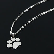 Fashion Cute Paw Print Gold Silver Chain Pendant Puppy Dog Cat Necklace Jewellry