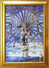 Salvador Dali St.Jakob 90x60 Ölgemälde Handgemalt Leinwand Signiert G01813