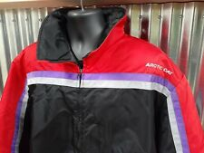 New ListingVtg Artic Cat Men's 3Xl Bomber Style Snowmobile Jacket Articwear Usa Red Black
