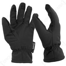Black Softshell Gloves -  Winter Thinsulate Fleece Lined Touch Screen Tips New