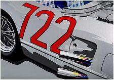 Stirling Moss 722 Mercedes SLR Mille Miglia Limited Edition Signed Art Prints