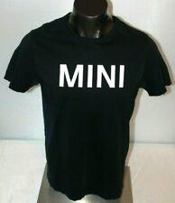 Official MINI Cooper Men's sz L Large T-Shirt Spell Out Black/White Gear EUC