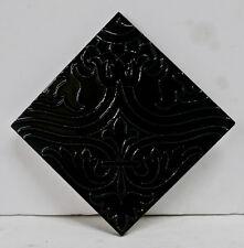AET-LA Black Vintage Decorated California Tile