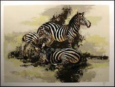 """Mark King """"Zebras"""" Serigraph on Paper, Signed & Numbered, Make an Offer L@@K!"""
