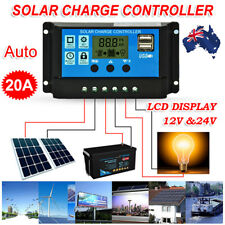 12V/24V Solar Panel Battery Regulator Charge Controller 20A PWM LCD Display AU