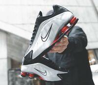 """Scarpe sneakers uomo Nike Shox R4 OG """"Black Silver"""", vari numeri, cod.BV1111-008"""