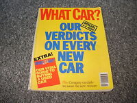 WHAT CAR ?   MAGAZINE  NOVEMBER     1990    ENGLISH MONTHLY