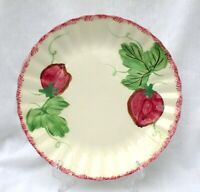 "Blue Ridge Southern Potteries Berryville 10 1/4"" Dinner Plate Strawberries"