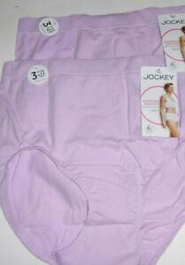 2 Jockey Seamfree Breathe Brief Panty Set Airy Knit Cotton Blend Pink Plus Sz 9