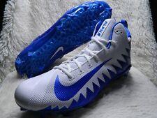Nike Alpha Menace Pro Mid Football Cleats Mens Size 18 White Blue Free S&H