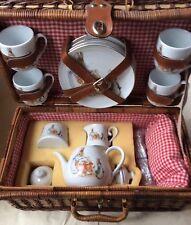 Beatrix Potter Peter Rabbit Reutter German Porcelain Child Picnic Basket Tea Set