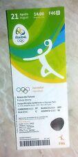 Rio 2016 Olympic Games HANDBALL Final Denmark France 21 August unused ticket