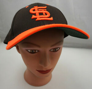 St. Louis Browns Hat Brown Stitched Fitted 7 1/4 Baseball Cap Pre-Owned ST190