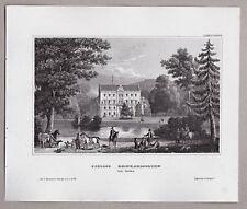 Reinhardsbrunn, Friedrichroda, Gotha - Schloßansicht - Stich, Stahlstich um 1845