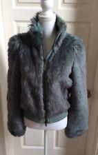 Firetrap Petrol Blue Faux Fur Jacket , Size S