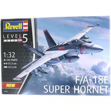 Revell F/A-18E Super Hornet Plane Model Kit (Level 5) (Scale 1:32) (NO PAINT)