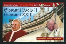 VATICANO 2014 - FOLDER CANONIZZAZIONE PAPA GIOVANNI PAOLO II E GIOVANNI XXIII