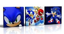 3 X DEEP EDGE CANVAS PICTURES SONIC THE HEDGEHOG  NEW