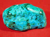 A Larger Polished BLUE Chrysocolla PEBBLE With Shattuckite and Malachite! 193gr