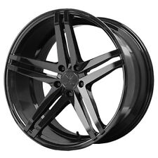 "4-NEW 19"" Inch Verde V39 Parallax 19x8.5 5x112 +45mm Gloss Black Wheels Rims"