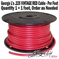 George L's .225 VINTAGE RED Bulk Cable Per Foot > Guitar Cord  Patch Effects NEW