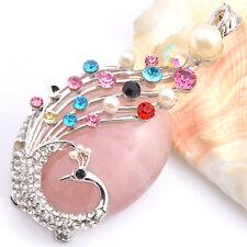 Handmade Gorgeous Women Natural Pink Kunzite Gems Silver Necklaces Pendants
