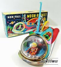 MOON ROCKET 1960s Masudaya Space Ship Modern Toys SciFi Tin Toy Japan 60s