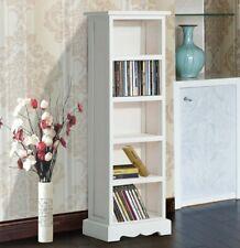 Gloss White Oak Furniture Cd/dvd Media Storage Rack Shelving Unit BRAND NEW