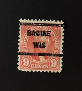 Racine, Wisconsin Precancel - 9 cents Jefferson (U.S. #641) WI