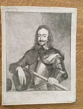 1733 - Charles 1st - Fine Etching By A. Demercency After Van Dyck.