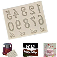 0-9 Number st nd rd 3D Silicone Candy Chocolate Imprint Mold Cake Fondant Baking