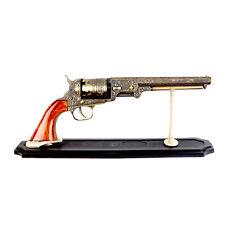 Western Cowboy Black PowderPistol Replica Gun w/ Stand