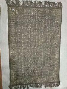 Hand Block printed Rugs Handmade Cotton Print Floor Mat Runner Carpet Durries
