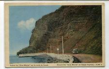 Around the Gros Morne Car Gaspe Highway Quebec Canada 1950c postcard