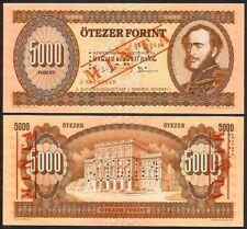 HUNGARY 5000 FORINT 31.8.1995 J SPECIMEN P177s UNC