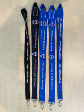 Lot Of 5 Porsche Lanyards: Black & Blue Porsche; Black & Blue Pca